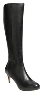 Cole Haan Knee High Leather Tall Black Boots