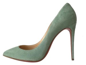 Christian Louboutin Pigalle Follies Amande Mint Green Pumps