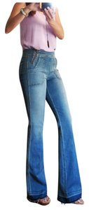 Divine Rights of Denim Drd High Rise Flare Leg Jeans-Medium Wash