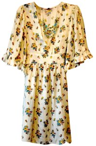 Betsey Johnson short dress Ivory and multi color floral on Tradesy