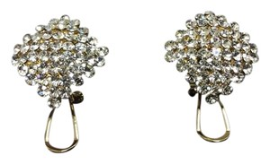 Swarovski Statement Stud Earrings Gold Electroplated