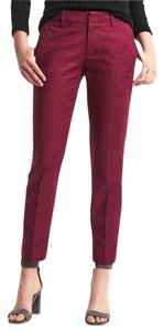 Gap Straight Leg Straight Pants Pink