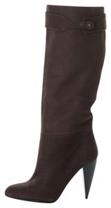 Lanvin Hiver Chunky Pull On Brown Boots
