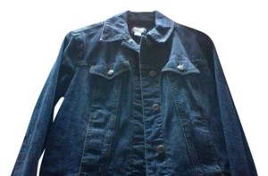 Ann Taylor Denim New Jean Spring Summer Winter Coat Dark Blue Womens Jean Jacket