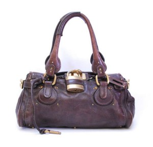 Chloé Chloe Padlock Chocolate Satchel in Brown