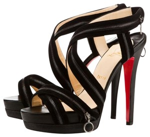Christian Louboutin Red Bottoms Sandal Heels Black Sandals