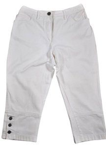 Chanel Cc Capri Denim Cropped Pants Capri/Cropped Denim-Light Wash