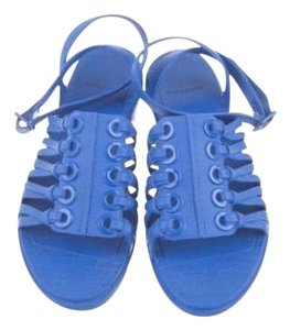 Givenchy Trendy Designer Fashion Cobalt Blue Sandals