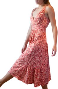 Red/Tan Multi Maxi Dress by Marc by Marc Jacobs Dryclean Only 55% Spun Silk