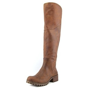 Lucky Brand Over The Knee Cognac Boots