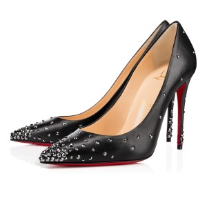 Christian Louboutin Crystal Strass Studded Black Pumps