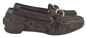 Coach Loafers Black / Grey Flats