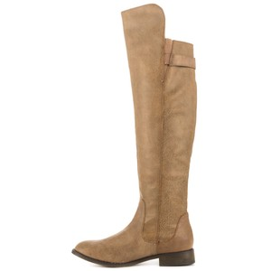 Kenneth Cole Over Knee Taupe Boots