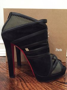 Christian Louboutin Commandanta Platform Stiletto Leather Cutout black Pumps