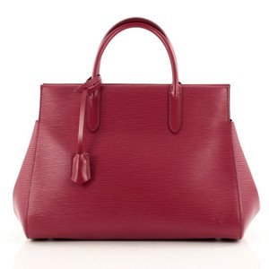 Louis Vuitton Leather Tote in Dark Pink