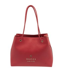 Gucci 419689 Pebble Tote in Red