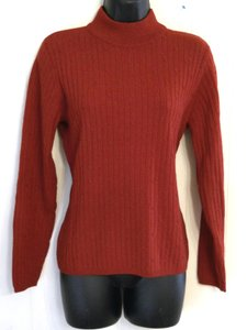 Liz Claiborne Mock Turtleneck Merino Wool Knit Sweater