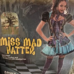 Miss Mad Hatter -Woman's Costume Dress