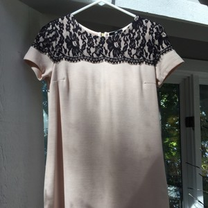 H&M short dress Blush pink with black lace on Tradesy