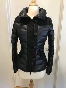 Duvetica Blue/Black Down Filled Puffer Jacket Coat