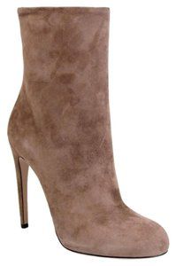 Gucci Suede Heel Ankle Old Mauve Boots