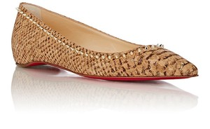Christian Louboutin Spikes cork and gold Flats