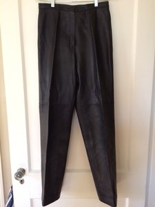 Liz Claiborne Leather Straight Pants Black