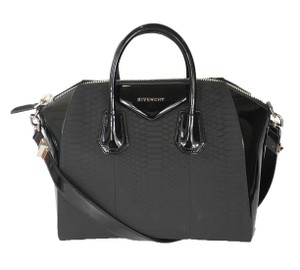 Givenchy Luxury Exclusive Python Satchel in Black