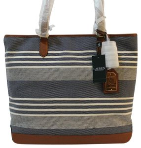 Ralph Lauren Light Weight Nwt Tote in Navy / Natural