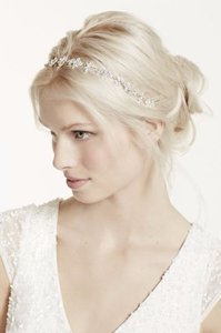 David's Bridal Never Worn Gorgeous Tie Headband