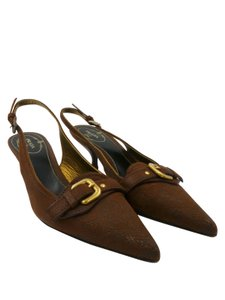 Prada Slingbacks Brown Pumps