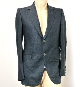 Gucci Men's Wool Suit Coat Gray Blazer