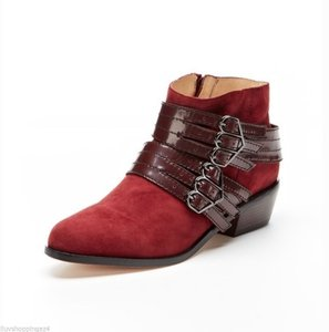L.A.M.B. Leather Burgundy Boots