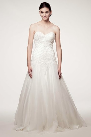 Kari Chang Eternal Diamond White Kcw1541 Traditional Wedding Dress Size 12 (L)
