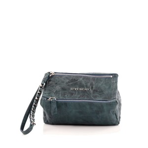 Givenchy Leather Dark Teal Clutch