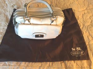 Coach Handbag Handbag Leather Satchel in White