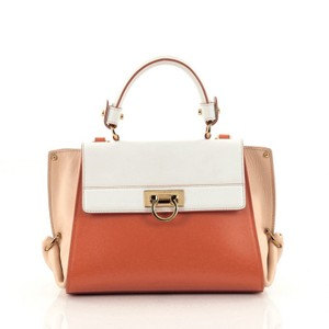 Salvatore Ferragamo Leather Satchel in Multicolored