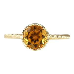 Fashion Strada 17.30CTW Natural Citrine And Diamond Ring 14K Solid White Gold