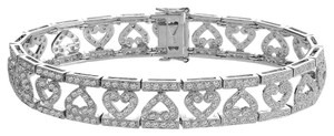 Avital & Co Jewelry Carat G-si1 Round Brilliant Cut Diamond Heart Bracelet 14k White Gold
