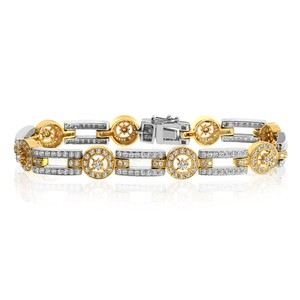 Avital & Co Jewelry 3.00ct G-vs2 Natural Round Brilliant Cut Diamond Bracelet 18k Gold