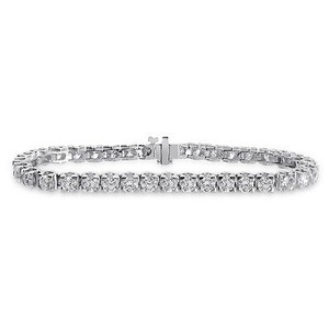 9.85 Carat Ladies Diamond Tennis Bracelet 14k White Gold