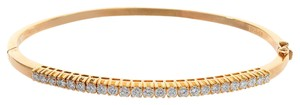 Avital & Co Jewelry 1.50ct G-vs1 Round Brilliant Diamond Bangle Bracelet 18k Yellow Gold