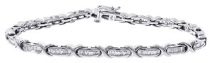 Avital & Co Jewelry 1.25ct X-shaped Baguette-cut Diamond Channel Set Bracelet. 10k WG