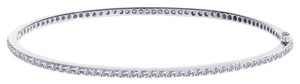 Avital & Co Jewelry 1.35ct H-si2 Round Brilliant Diamond Eternity Bangle Bracelet 18k WG
