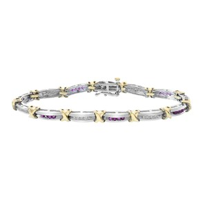 Avital & Co Jewelry 0.30ct 0.40ct Round Cut Colorful Diamonds Bracelet.14k WY Gold.