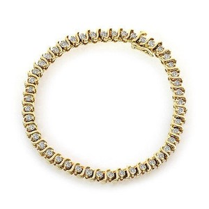 1.50 Carat Diamond Tennis Bracelet 14k Yellow Gold