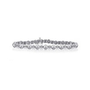 Avital & Co Jewelry 1.20 Carat Diamond Bezel Tennis Bracelet 14k White Gold