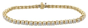 Avital & Co Jewelry Carat Diamond Four Prong Tennis Bracelet 14k Yellow Gold