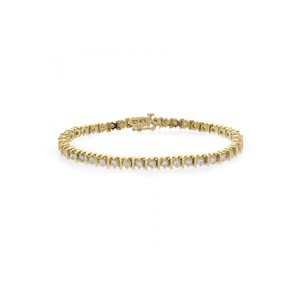 Avital & Co Jewelry 3.50 Carat Diamond Tennis 14K Yellow Gold Bracelet