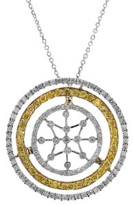 Avital & Co Jewelry 2-00-Carat-Diamond-Star-Necklace-14K-White-and-Yellow-Gold 2-00-Cara